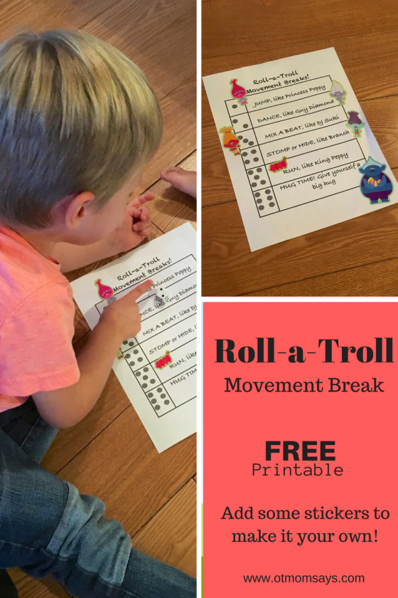 Roll a troll printable