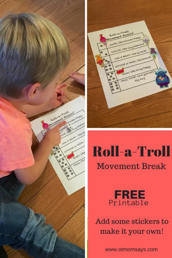 Roll a troll printable