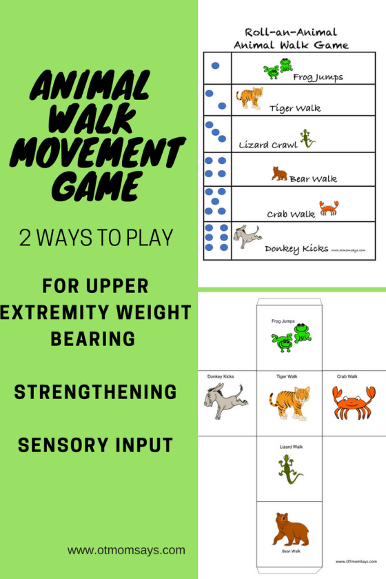 Two ways to play animal walk movement break games