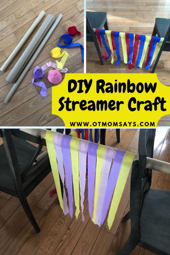 DIY Rainbow Streamer Craft